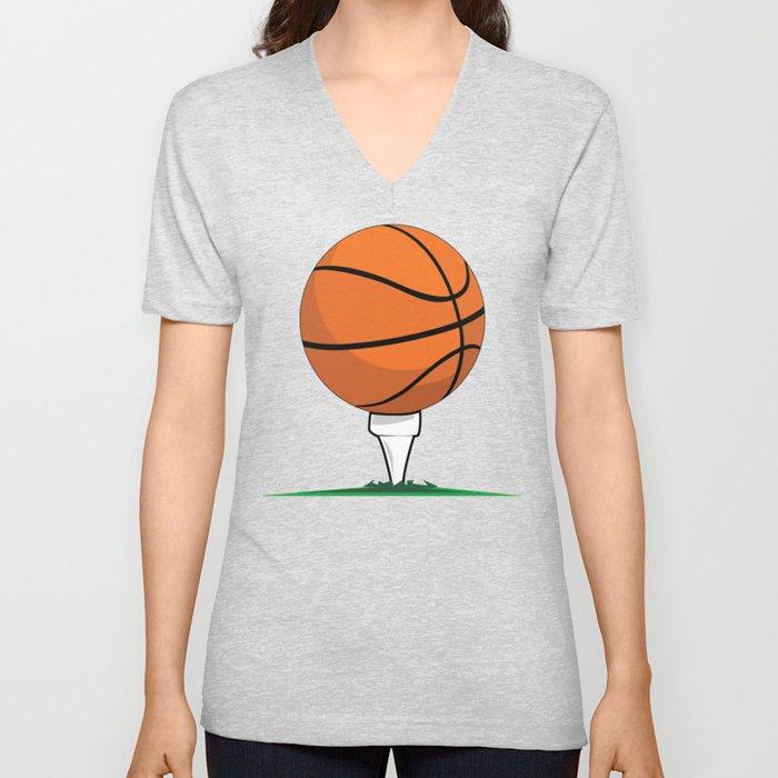 Basketball Tee Unisex V-Neck