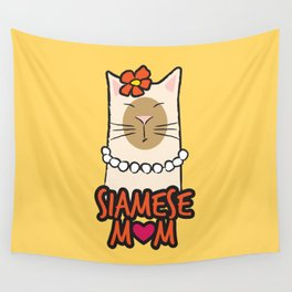 Siamese Mom Wall Tapestry