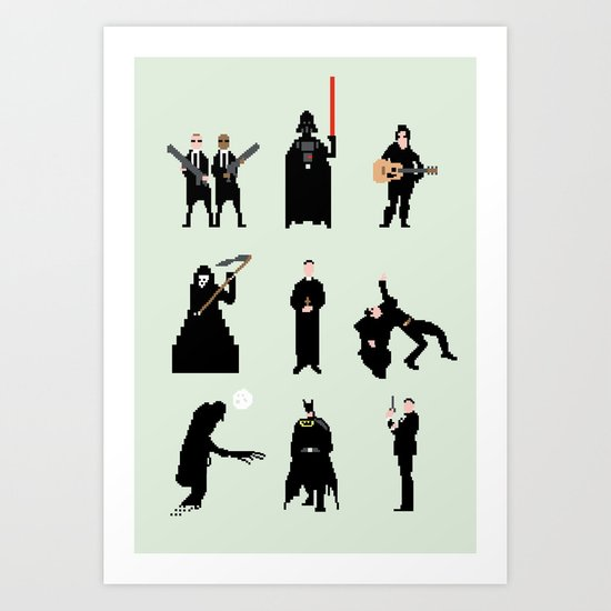 Men in Black Art Print