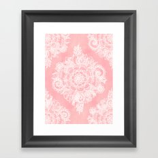 Marshmallow Lace Framed Art Print