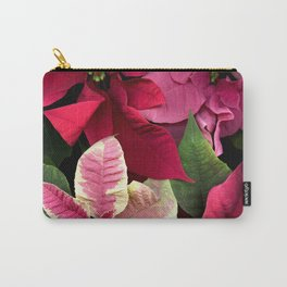 Colorful Christmas Poinsettias, Scanography Carry-All Pouch