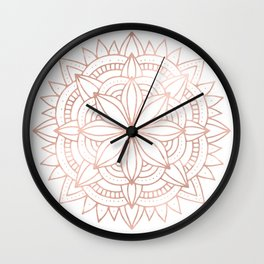 Mandala Rose Gold Pink Shine Wall Clock
