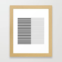 The Piano Black and White Keyboard with Horizontal Stripes Framed Art Print