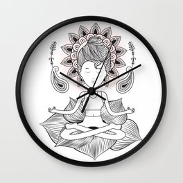 Padmasana Pose Wall Clock
