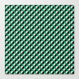 Yin Yang Polka Dot Canvas Print