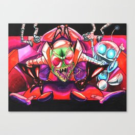 !!!ZIM!!! and Gir in a Voot Cruiser Canvas Print