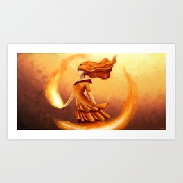 Flame Princess Art Print