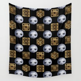 Chibi Pinhead & Puzzle Boxes Wall Tapestry