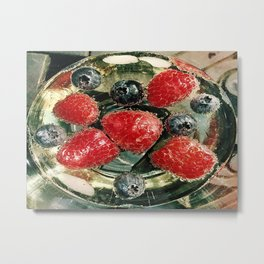 Bubbles N Berries Metal Print