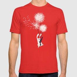 Bunny and Dandelion Bouquet T-shirt