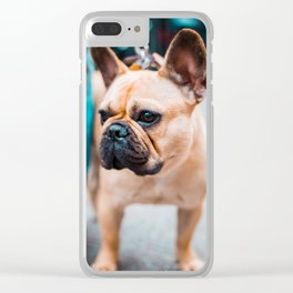 NYC Frenchie Clear iPhone Case