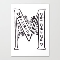 M is for Canvas Print