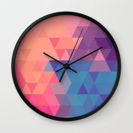 Colorul triangle Wall Clock