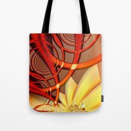Circling 2 Abstract Fractal Art Tote Bag