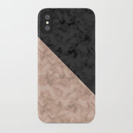 Brown , gray , mixed , patchwork iPhone Case