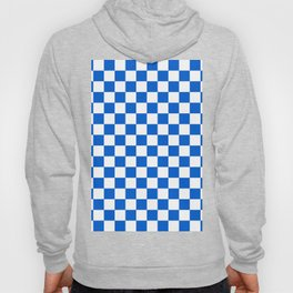 Gingham Brilliant Blue Checked Pattern Hoody