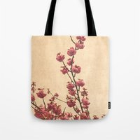 cherry blossoms Tote Bags featuring cherry blossoms by Iris Lehnhardt - Photography