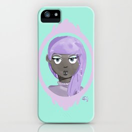 Pastel Vampire Woman iPhone Case
