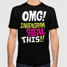 OMG! INSTAGRAM! Mens Fitted Tee Black MEDIUM