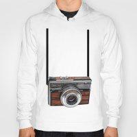 cameras Hoodies featuring Vintage cameras by Tish