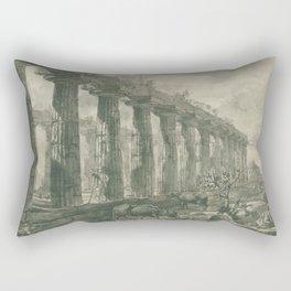 Giovanni Battista Piranesi - De tempel van Ceres (Athena-tempel), te Paestum Rectangular Pillow