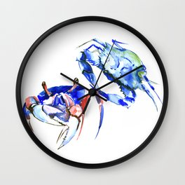 Blue Crabs Wall Clock
