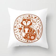 Copper Fox Throw Pillow