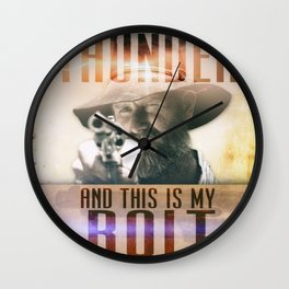 Thunderbolt Movie-I Am The Thunder Version 2 Wall Clock