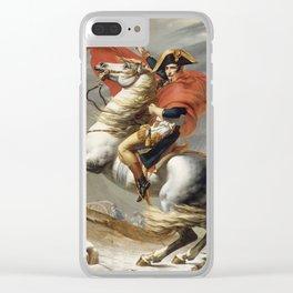 Jacques Louis David - Bonaparte Crossing The Grand Saint Bernard Clear iPhone Case