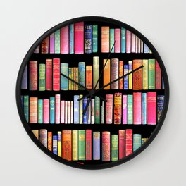 Vintage Book Library for Bibliophile Wall Clock