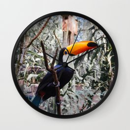 Toucan in Iguazu Falls, Argentina Wall Clock