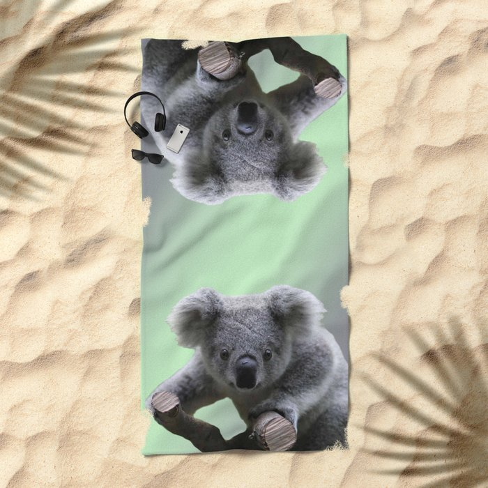 Koala Bear Beach Towel By Erikakai Society6