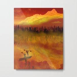 Kayak Victory Metal Print