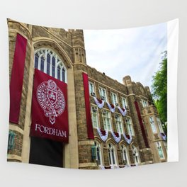 Keating Hall at Fordham University Commencement  Wall Tapestry
