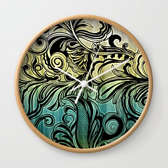 Swirl and Curl Wall Clock