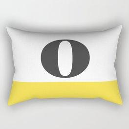 Monogram Letter O-Pantone-Buttercup Rectangular Pillow
