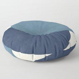 Halfmoon Colorblock - Blue Floor Pillow