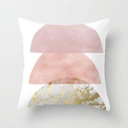 Blush Pink Semi-circle Throw Pillow