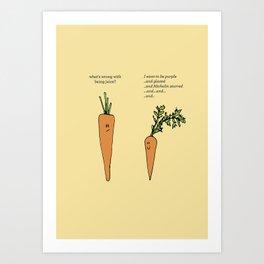 Fancy Carrots Art Print