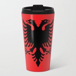 Flag of Albania - Authentic version Travel Mug