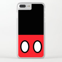Mickey Mouse's Clothes Clear iPhone Case