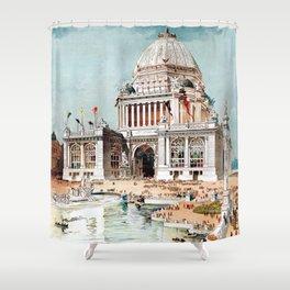 Vintage 1893 Chicago World's fair expo Shower Curtain