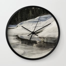 Fish Lake Dimensions Wall Clock