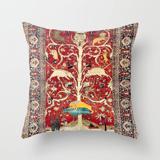 Silk Heriz Azerbaijan Northwest Persian Rug Print by vickybragomitchell