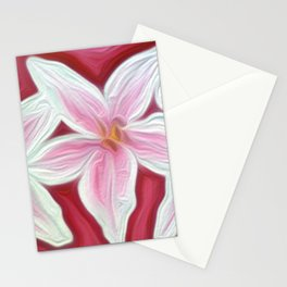 Pink Lillies Stationery Cards