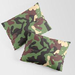Camo Green and Black Pillow Sham