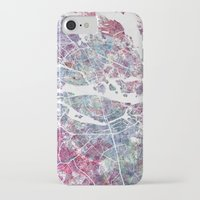 stockholm iPhone & iPod Cases featuring STOCKHOLM #2 by MapMapMaps.Watercolors
