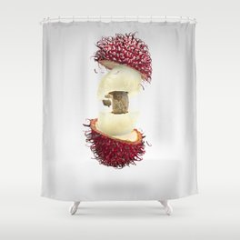 Flying Rambutan Shower Curtain