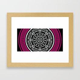 Modern Mandala (Pink) Framed Art Print