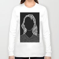 poker Long Sleeve T-shirts featuring Poker Face by Laura Moreau